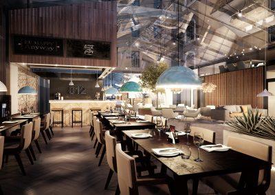 3d visualisering restaurang