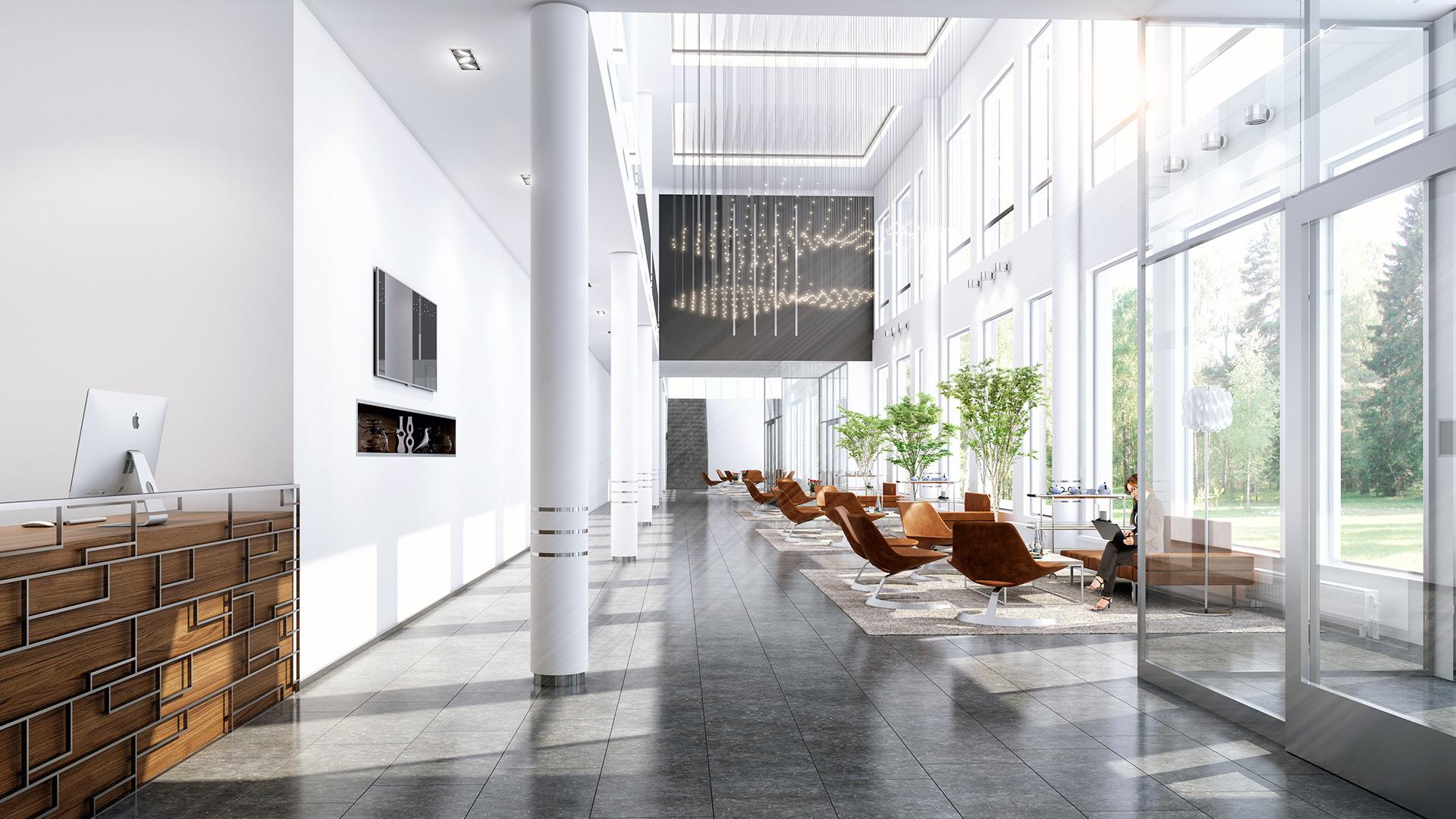 3d visualisering lobby