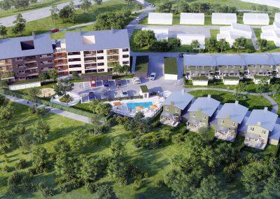 3D Visualisering bostadsområde