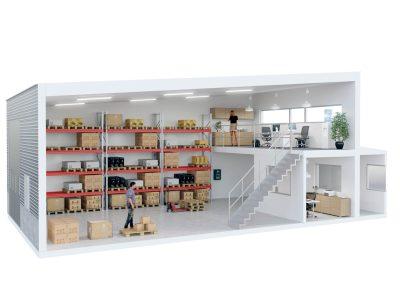 3d visualisering kontorshotell