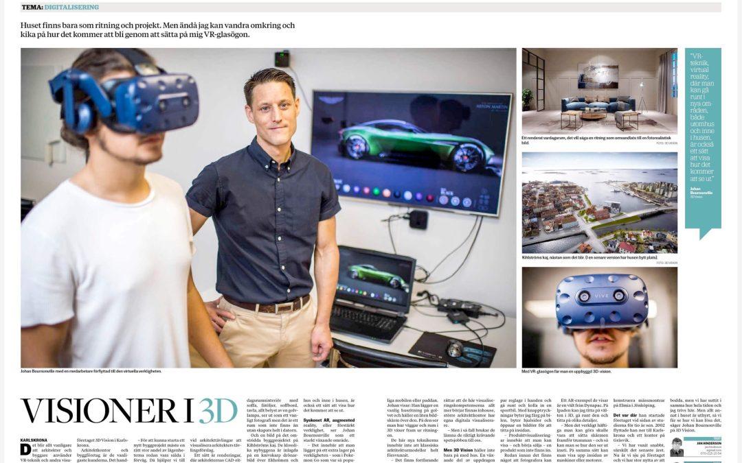 Visioner i 3D – Artikel i tidningen Affärsliv Blekinge